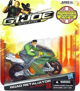 GI Joe Retaliation Movie Alpha Vehicle Road Retaliator with Flint Action Figure