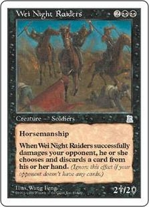 Magic the Gathering Portal Three Kingdoms Single Card Uncommon #89 Wei Night Raiders