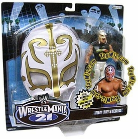 WWE Jakks Pacific Wrestlemania XXI 21 Series 3 Exclusive Signature Gear Rey Mysterio Action Figure with Mask