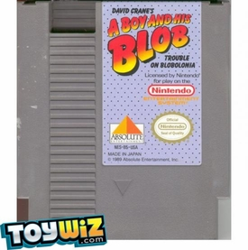Nintendo Entertainment System NES Played Cartridge Game David Crane's A Boy and his Blob: Trouble on Blobolonia