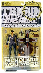 Trigun The Planet Gunsmoke Action Figure Nicholas D. Wolfwood (Battle Damage Variant)