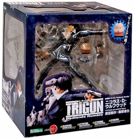 Trigun Badlands Rumble Kotobukiya ArtFXJ Nicholas D. Wolfwood Statue Damaged Package, Mint Contents!