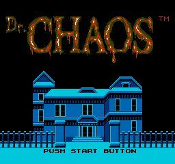 Nintendo Entertainment System NES Played Cartridge Game Dr. Chaos