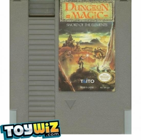 Nintendo Entertainment System NES Played Cartridge Game Dungeon Magic: Sword of the Elements