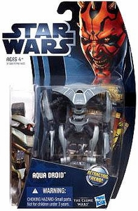 Star Wars 2012 Clone Wars Action Figure #10 Aqua Droid [Retracting Head!]