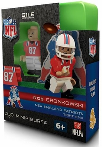 OYO Football NFL Building Brick Minifigure Throwback Jersey Rob Gronkowski [New England Patriots]