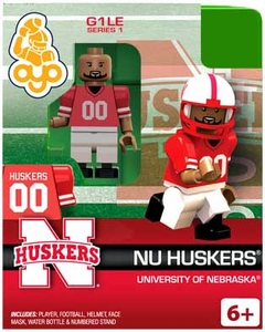 OYO College Football Building Brick Minifigure NU Huskers