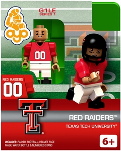 OYO College Football Building Brick Minifigure Red Raiders [Texas Tech University]