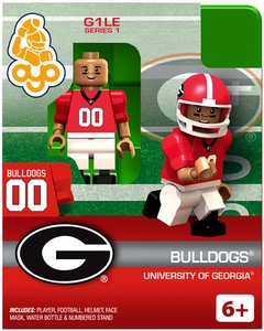 OYO College Football Building Brick Minifigure Bulldogs [University of Georgia]