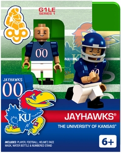 OYO College Football Building Brick Minifigure Jayhawks [University of Kansas]