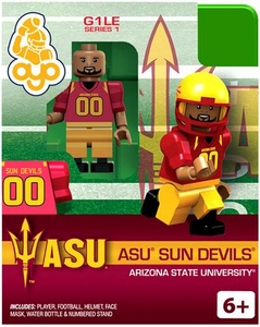 OYO College Football Building Brick Minifigure ASU Sun Devils [Ariszona State University]