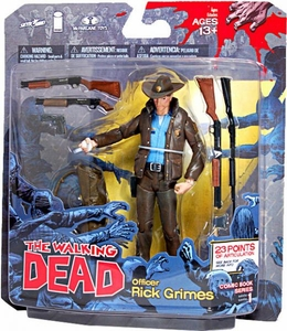 McFarlane Toys Walking Dead COMIC Series 1 Action Figure Officer Rick Grimes