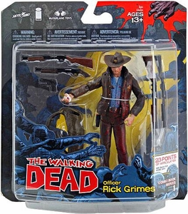 McFarlane Toys Walking Dead COMIC Series 1 Exclusive Action Figure Officer Rick Grimes Blood Splattered Variant