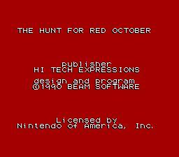 Nintendo Entertainment System NES Played Cartridge Game The Hunt for Red October