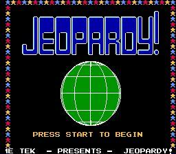 Nintendo Entertainment System NES Played Cartridge Game Jeopardy!