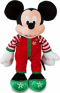 Disney Exclusive 13 Inch Deluxe 2011 Plush Share the Magic Holiday Pajamas Mickey Mouse