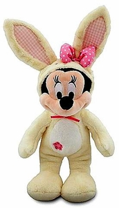 Disney Exclusive Vanilla Easter Bunny 14 Inch Plush Minnie Mouse