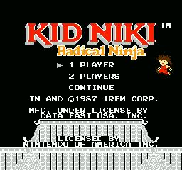 Nintendo Entertainment System NES Played Cartridge Game Kid Niki: Radical Ninja