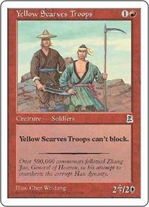 Magic the Gathering Portal Three Kingdoms Single Card Common #127 Yellow Scarves Troops