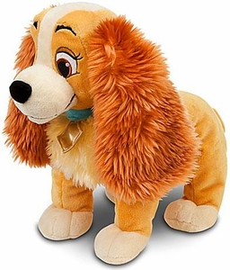 Disney Exclusive Lady & Tramp 14 Inch Deluxe Plush Figure Lady