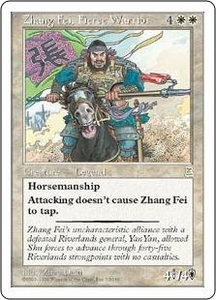 Magic the Gathering Portal Three Kingdoms Single Card Rare #32 Zhang Fei, Fierce Warrior
