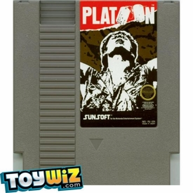 Nintendo Entertainment System NES Played Cartridge Game Platoon with Instructions
