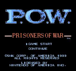 Nintendo Entertainment System NES Played Cartridge Game P.O.W.: Prisoners of War