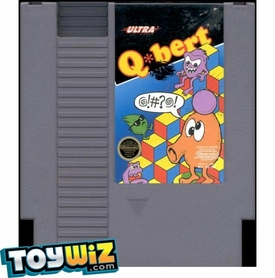 Nintendo Entertainment System NES Played Cartridge Game Q*bert