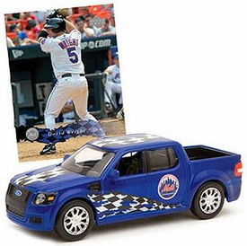 New York Mets Upper Double Header Series Diecast NY Mets Ford Truck with David Wright  Card