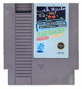 Nintendo Entertainment System NES Played Cartridge Game Rad Racer with Instructions
