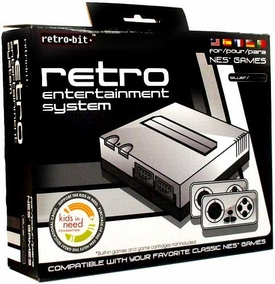 Retro Bit Nintendo NES Entertainment System [Silver]