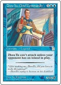 Magic the Gathering Portal Three Kingdoms Single Card Rare #65 Zhou Yu, Chief Commander