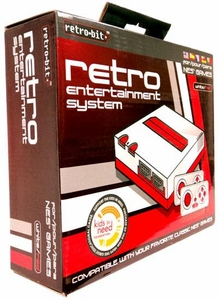 Retro Bit Nintendo NES Entertainment System [White & Red]