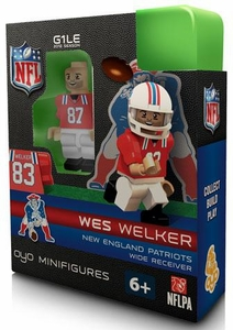 OYO Football NFL Building Brick Minifigure Throwback Jersey Wes Welker [New England Patriots]