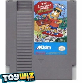 Nintendo Entertainment System NES Played Cartridge Game The Simpsons: Bart vs. the Space Mutants