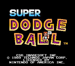 Nintendo Entertainment System NES Played Cartridge Game Super Dodge Ball