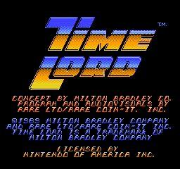 Nintendo Entertainment System NES Played Cartridge Game Time Lord