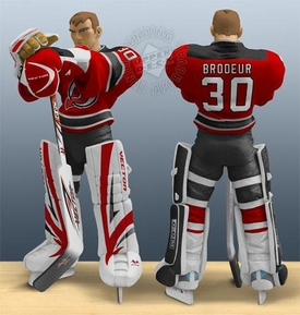 Upper Deck Authenticated All Star Vinyl Figure Martin Brodeur (Red Home Jersey) Limited to 1500 Pieces