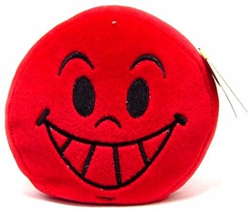 Wink Plush Toy Emoticons Grin Keychain [Random Color]