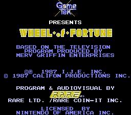 Nintendo Entertainment System NES Played Cartridge Game Wheel of Fortune