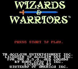 Nintendo Entertainment System NES Played Cartridge Game Wizards & Warriors