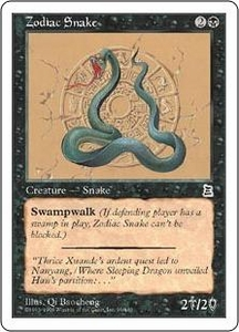 Magic the Gathering Portal Three Kingdoms Single Card Common #99 Zodiac Snake