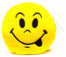 Wink Plush Toy Emoticons Tongue Keychain [Random Color]
