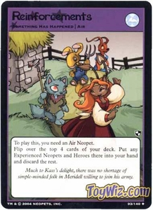 Neopets Trading Card Game Battle for Meridell Uncommon Single Card #93 Rienforcements
