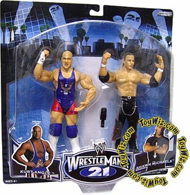 WWE Jakks Pacific Wrestlemania XXI 21 Exclusive Series 3 Action Figure 2-Pack Kurt Angle vs. HBK Shawn Michaels