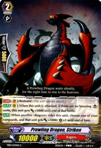 Cardfight Vanguard ENGLISH Comic Style Vol.1 Single Card Common EB01-034EN Prowling Dragon, Striken