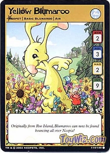Neopets Trading Card Game Battle for Meridell Common Single Card #114 Yellow Blumaroo