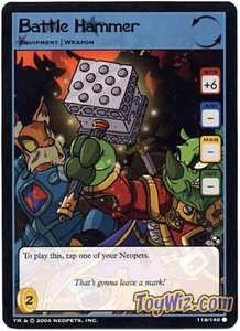 Neopets Trading Card Game Battle for Meridell Common Single Card #118 Battle Hammer