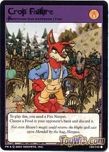 Neopets Trading Card Game Battle for Meridell Common Single Card #120 Crop Failure