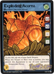 Neopets Trading Card Game Battle for Meridell Common Single Card #122 Exploding Acorns